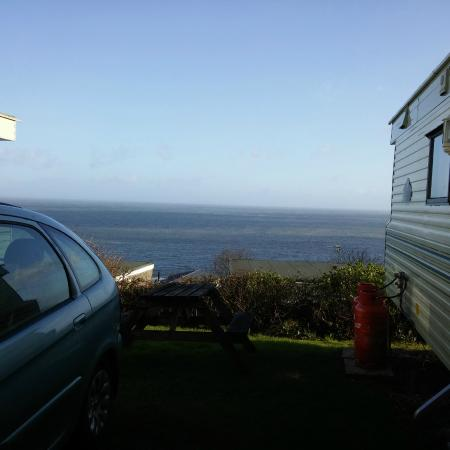 Sandaway Beach Holiday Park: The amazing view from our caravan