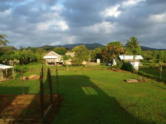 Tutzil Nah Cottages: View from the new second floor to the west and the Maya Mountains
