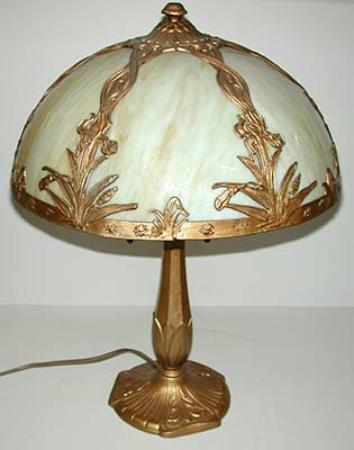 Victorian Stained Glass Table Lamp offered at one of the Canton Barn auctions..