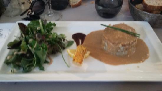 L'Avenue: parmentier de canard sauce foie gras