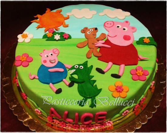 Torta Decorata Pasta Di Zucchero Peppa Pig Picture Of