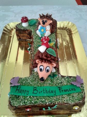 Masha and the bear hand made topper Picture of Cake Fairy Paphos