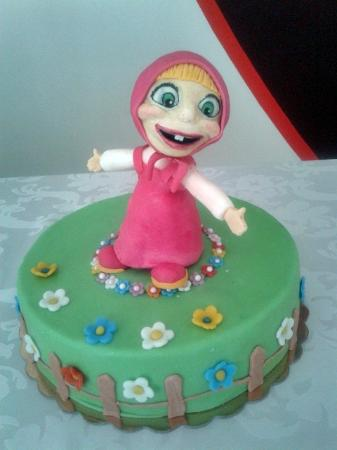 Masha and the bear hand made topper Picture of Cake Fairy