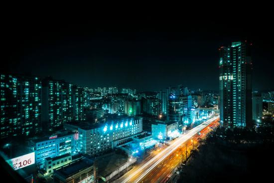 Ramada Plaza Suwon: vue depuis ma chambre d'hôtel