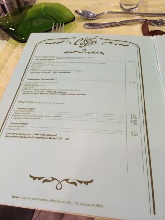 Chez Titi Salón de Té -  TeaRoom: Menu