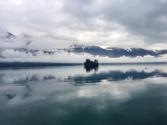 Hotel Bellevue Iseltwald: Île escargot, lac de Brienz