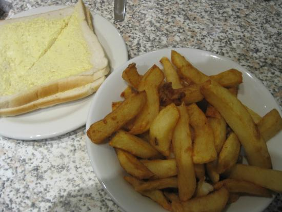 chips with bread and butter