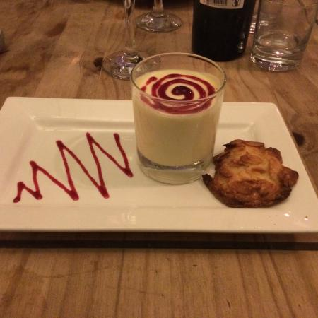 The Oxford Whitstable: Lemon posset with almond biscuit on the side