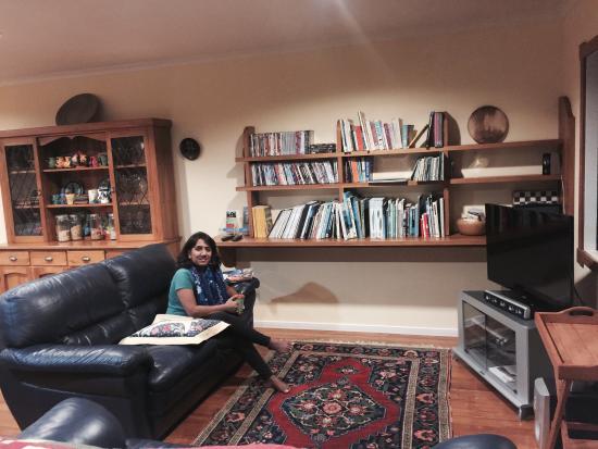 Abseil Breakfast Inn: My wife in common room