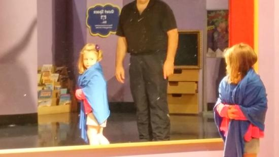 Children's Museum of Atlanta : Dressing up on stage. Adorbs!
