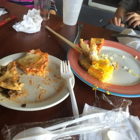 City Tropics Bistro : Gotta love the plastic-ware for our Easter brunch - classy place