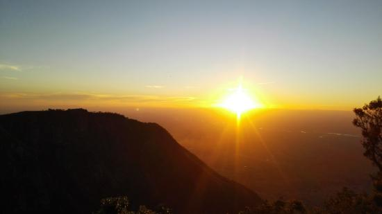 Beautiful sunset at Zomba mountain