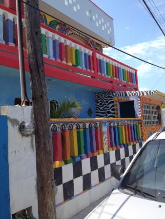 Crayola House: A car is parked out front- so hard to get the full effect.