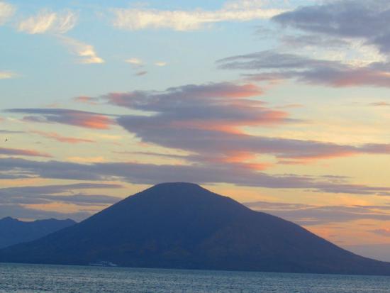 Hotel La Joya del Golfo: sunrise from the deck