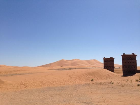 La Maison Rurale: view from terrace - lala merzouga dune
