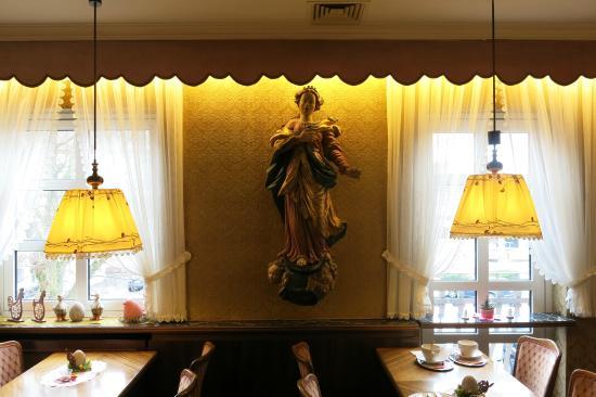 Bad Konigshofen, Tyskland: Café Mozart - Interieur