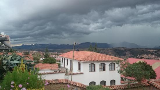 Cafe Mirador: vista da chuva chegando