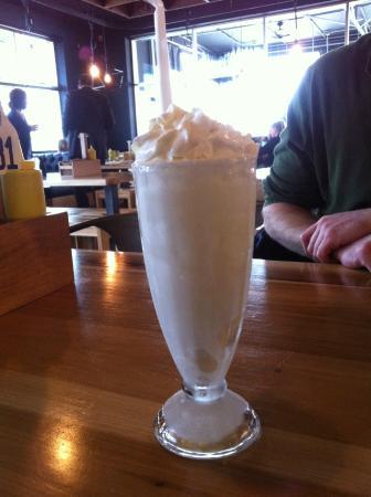 Chop House Burger: Vanilla shake