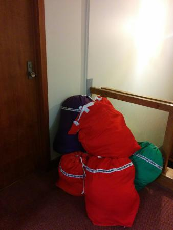 Prince of Wales Hotel: Laundry bags permanently at our door