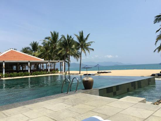 infinity pool beach house. Evason Ana Mandara Nha Trang: View Of Infinity Pool From Other Side, Facing The Beach House
