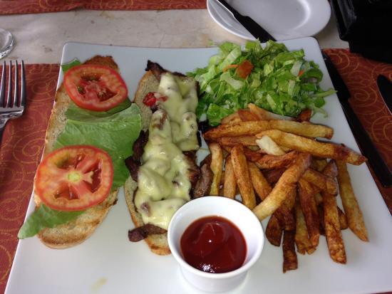 Sugar club: Mine was a Philly Cheese steak sandwich