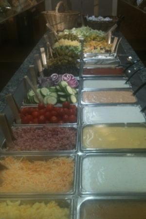 Barnyard Buffet: One of 2 Salad bars