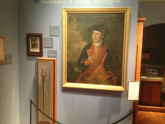 Morristown National Park - Washington's portrait and sword in Museum