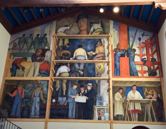 Diego rivera mural very special picture of san for Diego rivera mural in san francisco