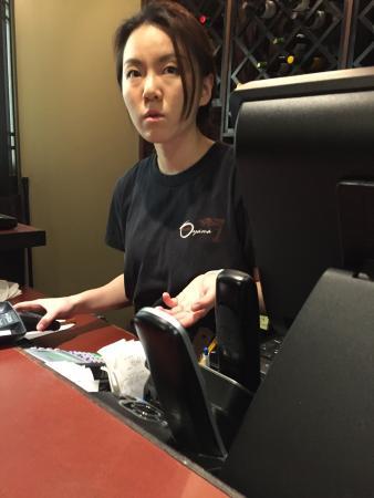 Sushi Oyama: Claire, rude waitress