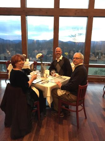 The Table at Crestwood : My step mother, father and husband at our table
