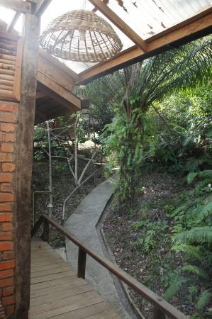 Paganakan Dii Tropical Retreat: Eingangsbereich Holzhütte