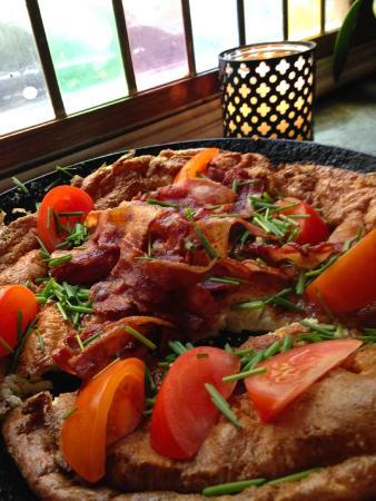Koebenhavner Cafeen: Mmmmm..eggekake med bacon