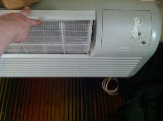 Sleep Inn Brooklyn: Clean heater filter!