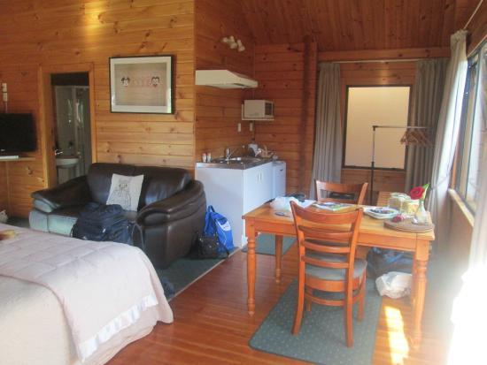 Fox Glacier Lodge: vue de la chambre