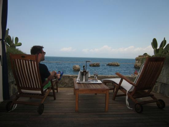 Capo La Gala Hotel: Prosecco & view