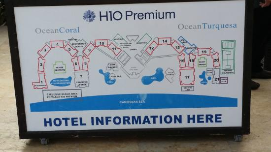 Map Of Facility Picture Of Ocean Coral Amp Turquesa Puerto Morelos Tripadvisor