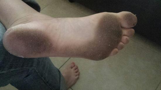 Ebony feet strapons