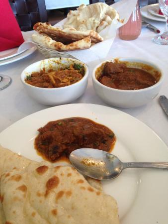 Lamb Curry, Kadai Chicken and Naan