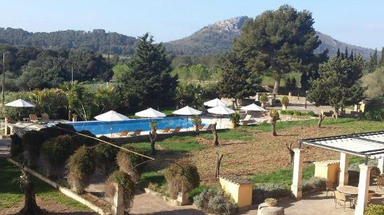 Son Cardaix: view from room balcony/terrace