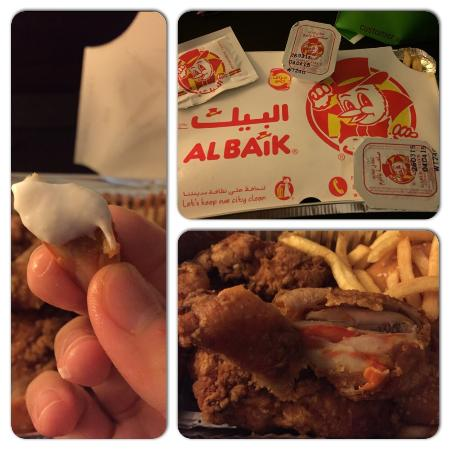 Albaik : The favorit is the spicy chicken