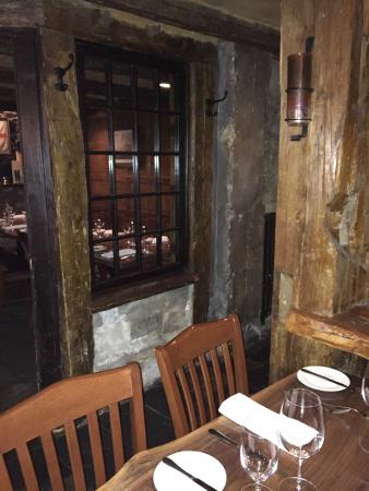 The Press Gang Restaurant & Oyster Bar : Lower level tables / areas.