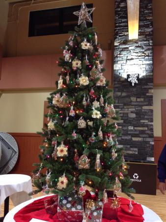 Edible Christmas tree donated to the festival of trees. Ornaments ...