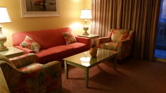 Peppertree Atlantic Beach, a Festiva Destination: Living room with sofa bed