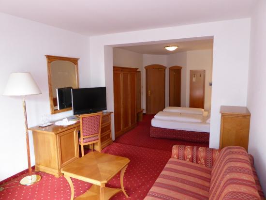 Blick in die Junior-Suite im Hotel Hubertus