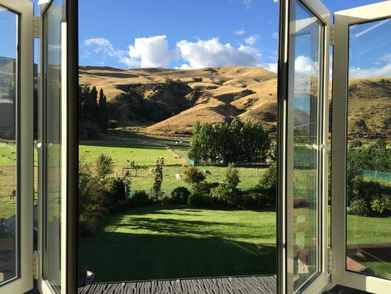 Queenstown Country Lodge: View from our bedroom.