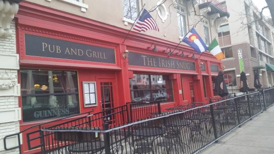 Exterior picture of irish snug restaurant bar denver for 5 star restaurant exterior