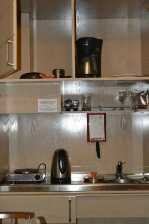 Holiday Suites: kitchen cabinet