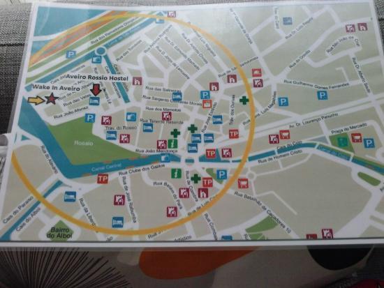 mapa turistico aveiro Mapa de ubicación.   Picture of wake in aveiro, Aveiro   TripAdvisor mapa turistico aveiro
