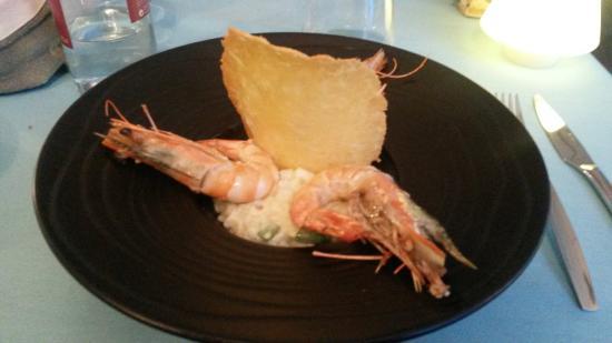 Bistro 2 Genies: risotto d'asperges aux gambas