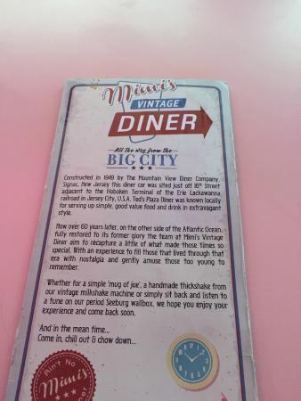 Mimis Vintage Diner Menu